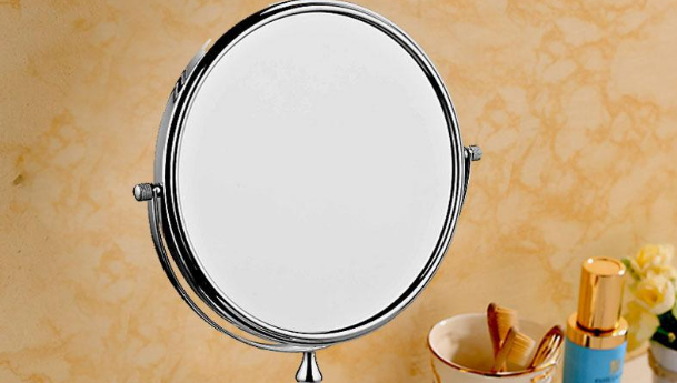 古润台式双面美容镜椭圆