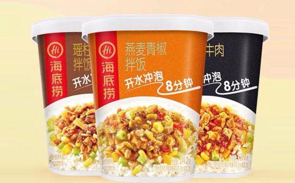 餐饮食品化,海底捞在方便速食领域又推出了冲泡米饭和冲泡粉丝!